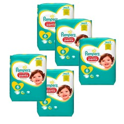 Pack 74 Couches Pampers Premium Protection Pants taille 6 sur 123 Couches