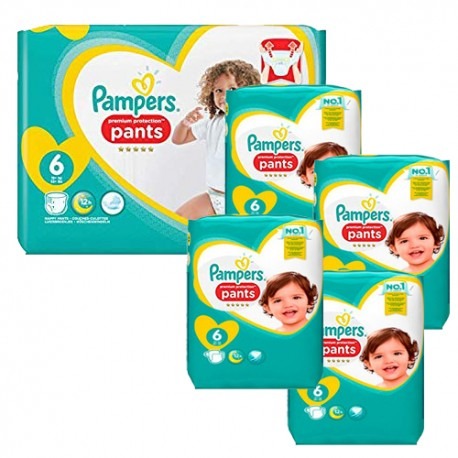 Mega pack 185 Couches Pampers Premium Protection Pants taille 6 sur 123 Couches