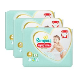 Giga pack 228 Couches Pampers Premium Protection Pants taille 4