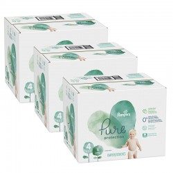 Pack 76 Couches Pampers Pure Protection taille 4 sur 123 Couches