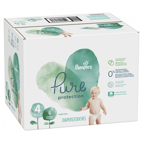 Mega pack 114 Couches Pampers Pure Protection taille 4 sur 123 Couches