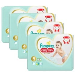 Maxi mega pack 418 Couches Pampers Premium Protection Pants taille 4