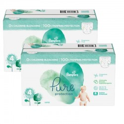 Mega pack 133 Couches Pampers Pure Protection taille 4 sur 123 Couches