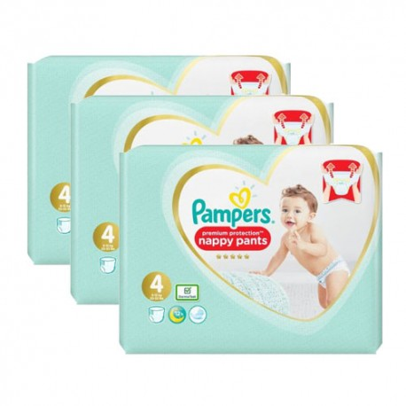 Pack jumeaux 532 Couches Pampers Premium Protection Pants taille 4 sur 123 Couches