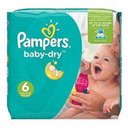 76 Couches Pampers Baby Dry taille 6 sur 123 Couches