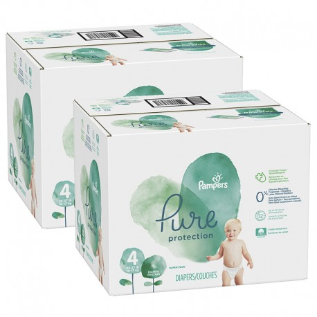 Maxi giga pack 380 Couches Pampers Pure Protection taille 4 sur 123 Couches