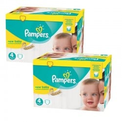 Giga pack 288 Couches Pampers New Baby Premium Protection taille 4 sur 123 Couches