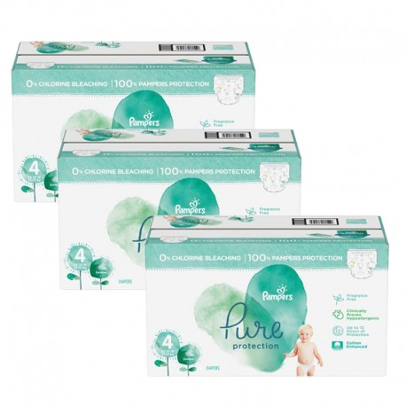 Pack jumeaux 570 Couches Pampers Pure Protection taille 4 sur 123 Couches