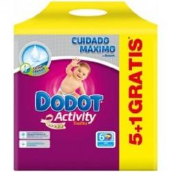 Pack 324 Lingettes Bébés Dodot Activity - 6 Packs de 54