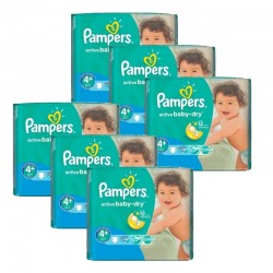 Maxi giga pack 360 Couches Pampers Active Baby Dry taille 4+