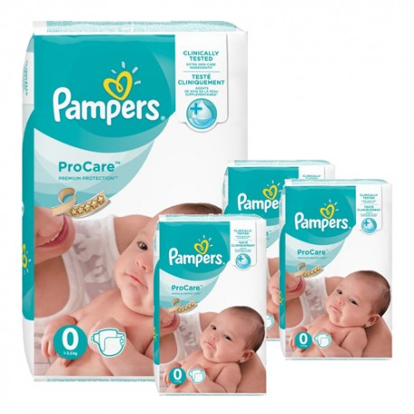 Mega pack 190 Couches Pampers ProCare Premium protection taille 0 sur 123 Couches