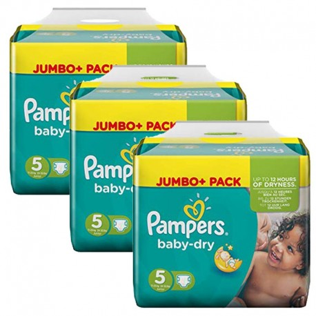 Pack 69 Couches Pampers Baby Dry taille 5 sur 123 Couches