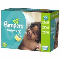 Pack 92 Couches Pampers Baby Dry taille 5