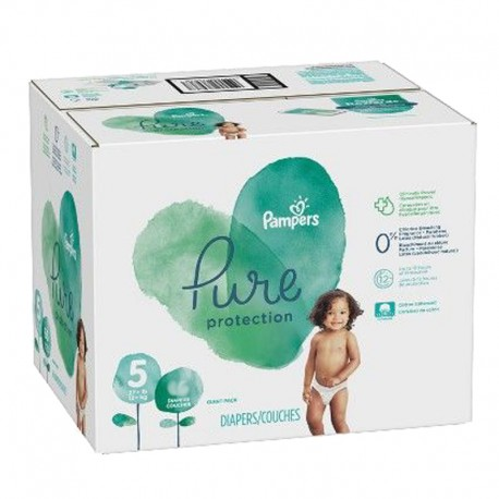 Giga pack 255 Couches Pampers Pure Protection taille 5 sur 123 Couches