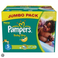 Mega pack 161 Couches Pampers Baby Dry taille 5