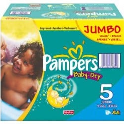 Mega pack 184 Couches Pampers Baby Dry taille 5 sur 123 Couches