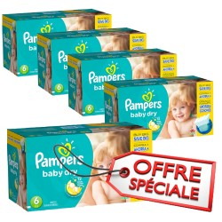 Maxi giga pack 304 Couches Pampers Baby Dry taille 6 sur 123 Couches