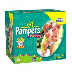 Pack jumeaux 532 Couches Pampers Baby Dry taille 6 sur 123 Couches