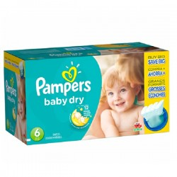 Pack jumeaux 684 Couches Pampers Baby Dry taille 6 sur 123 Couches