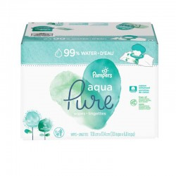 Maxi giga pack 384 Lingettes Bébés Pampers Aqua Pure sur 123 Couches