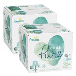 Pack jumeaux 768 Lingettes Bébés Pampers Aqua Pure sur 123 Couches