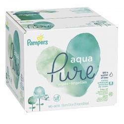 Pack jumeaux 960 Lingettes Bébés Pampers Aqua Pure sur 123 Couches