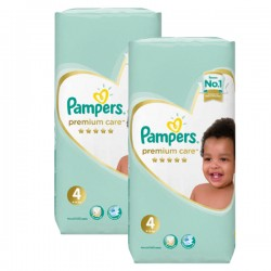 Mega pack 180 Couches Pampers New Baby Premium Care taille 4 sur 123 Couches