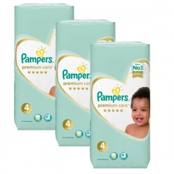 Maxi giga pack 340 Couches Pampers New Baby Premium Care taille 4 sur 123 Couches