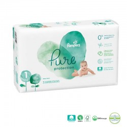 Pack 50 Couches Pampers Pure Protection taille 1 sur 123 Couches