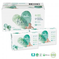 Mega pack 100 Couches Pampers Pure Protection taille 1 sur 123 Couches