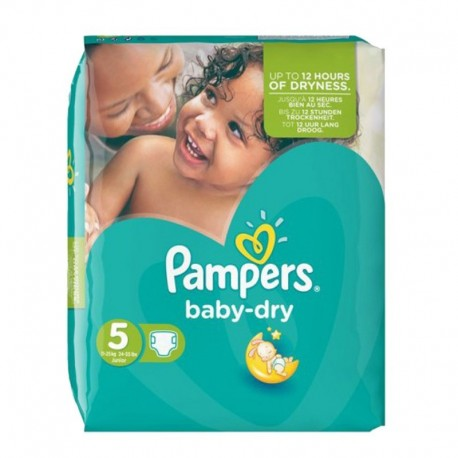 Pack 44 Couches Pampers Baby Dry taille 5 sur 123 Couches