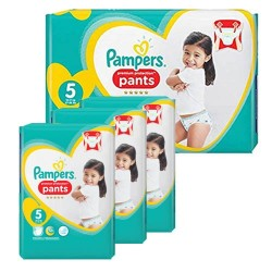 136 Couches Pampers Premium Protection Pants taille 5 sur 123 Couches