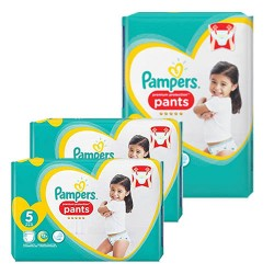 Giga pack 204 Couches Pampers Premium Protection Pants taille 5 sur 123 Couches