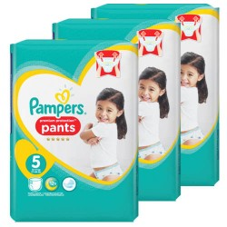 Giga pack 272 Couches Pampers Premium Protection Pants taille 5 sur 123 Couches