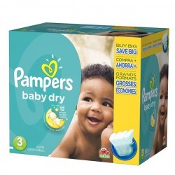 Mega pack 152 Couches Pampers Baby Dry taille 3