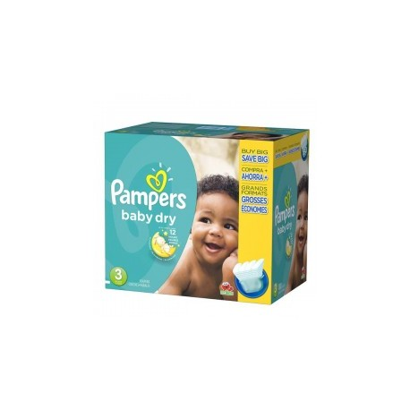 Mega pack 152 Couches Pampers Baby Dry taille 3 sur 123 Couches