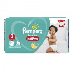 180 Couches Pampers Baby Dry Pants taille 3