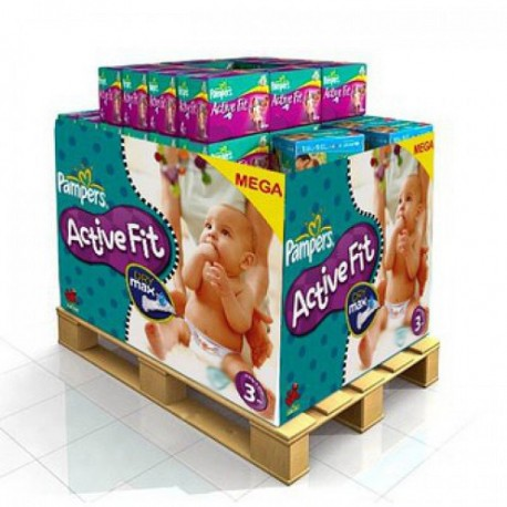 Maxi mega pack 476 Couches Pampers Active Fit taille 3 sur 123 Couches