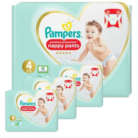 Pack jumeaux 760 Couches Pampers Premium Protection Pants taille 4 sur 123 Couches