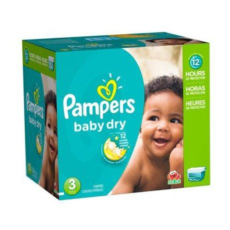 Giga pack 266 Couches Pampers Baby Dry taille 3 sur 123 Couches