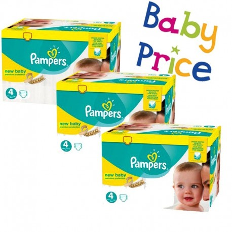 Pack jumeaux 960 Couches Pampers New Baby Premium Protection taille 4 sur 123 Couches