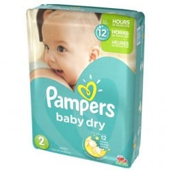 Pack 33 Couches Pampers Baby Dry taille 2 sur 123 Couches