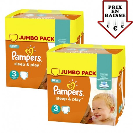 390 Couches Pampers Sleep & Play taille 3 sur 123 Couches