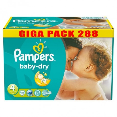 Mega pack 156 Couches Pampers Baby Dry taille 4 sur 123 Couches