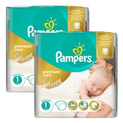 Maxi mega pack 484 Couches Pampers New Baby Premium Care taille 1 sur 123 Couches